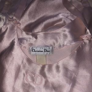 Christian Dior vintage pink slip dress / nightgown